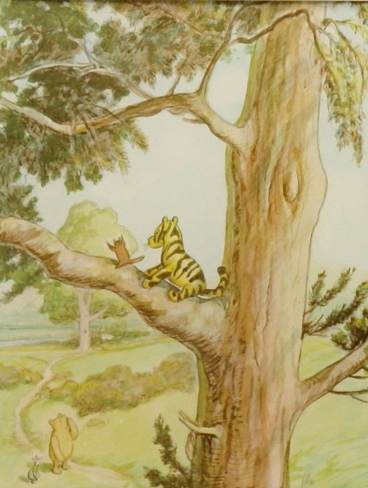 Classic pooh winnie the pooh prints boys room wall decor for Classic pooh wall mural