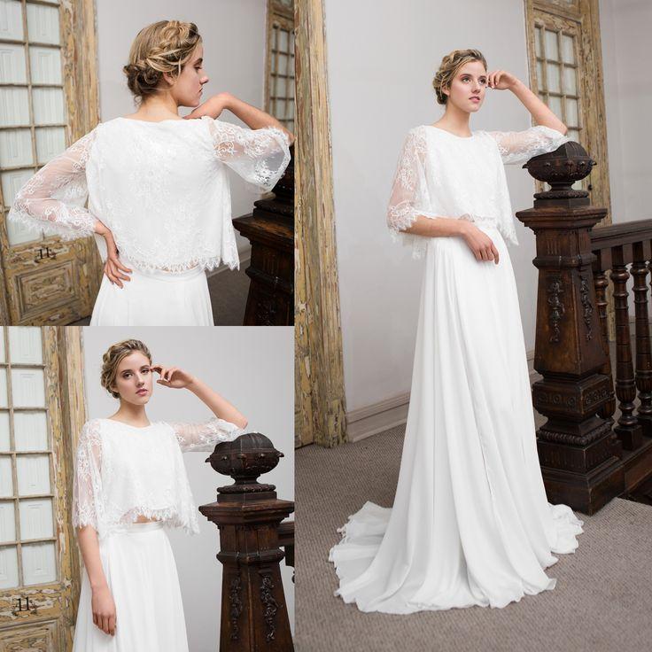 vestido de novia boho de 2 piezas  · 2-piece boho wedding dress - www.santoencanto.cl/vestidos-de-novia/