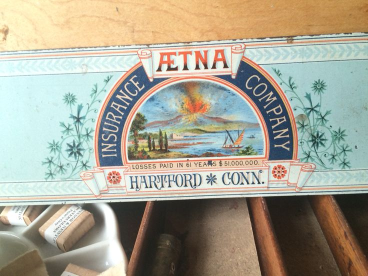 Frederic Church's father, Joesph, was an adjuster and early board member of Aetna Life. Maybe this is why Church has this piece in his painting kit.