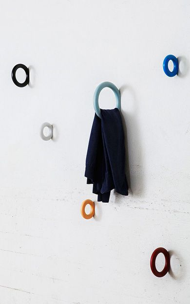 Forward Clothes hanger by Staffan Holm, 2011....I think they make fabulous towel racks!