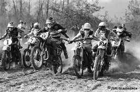 """L to R: Kent Howerton, Danny Laporte, Marty Smith, Marty Tripes (behind Smith), Bob Hannah, """"The Man"""", Tommy Croft."""