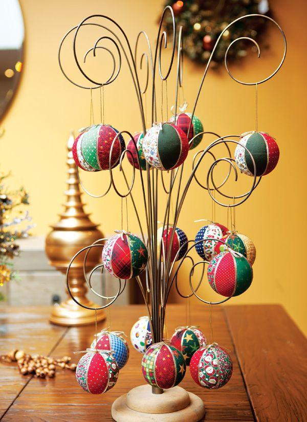 Bolas de Natal em carton mousse