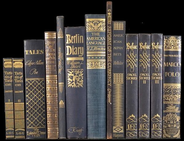More spines for publishers other than Knopf (w/ exception of 1 title), 1929-41.  #bookspines   via @WADwiggins