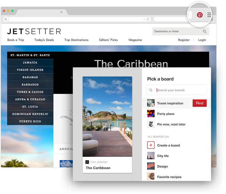 Pinterest browser button for Chrome     Save creative ideas from around the web with one click Get our browser button