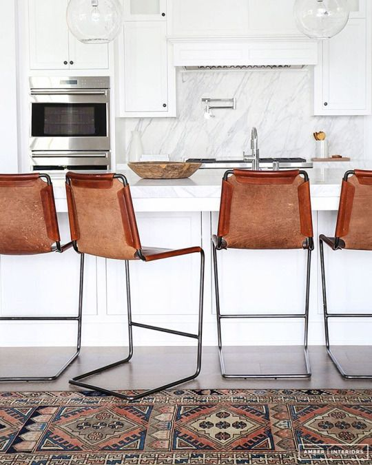 Cool leather barstools - a comfortable choice!