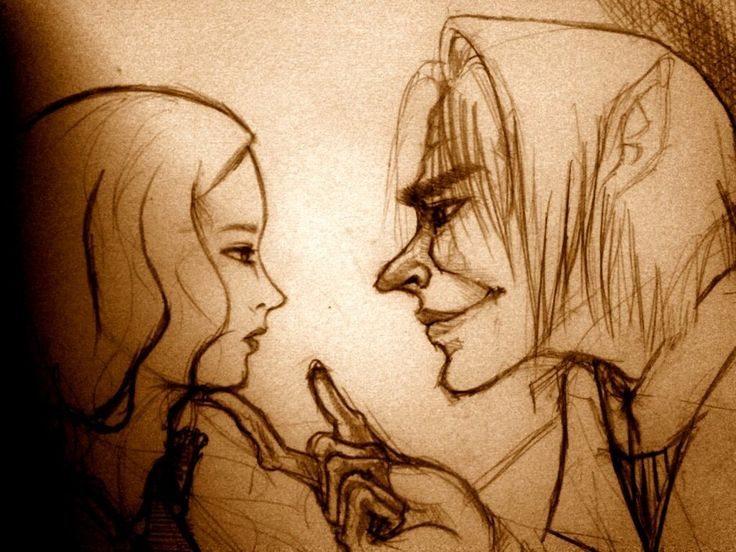 Kate and Marak from Hollow Kingdom Trilogy by Clare Dunkle Reliving the love. pencil. phone effects.