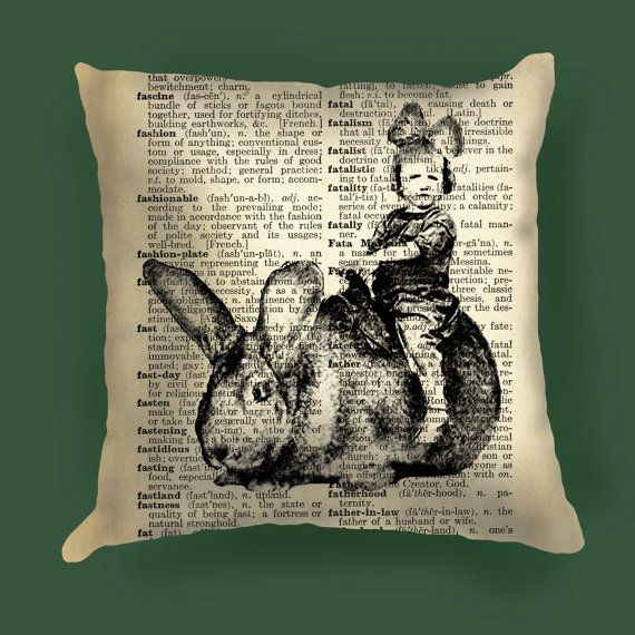 Flemish giant rabbit pillow Cover, Flemish giant rabbit  decor