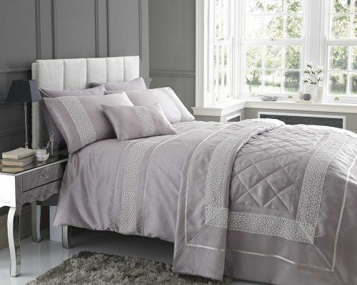 Mauve Pale Purple Super King Duvet Cover Bedding Bed Set