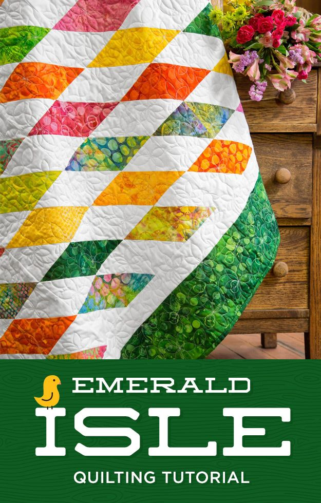 A new HST quilt! Watch this tutorial.