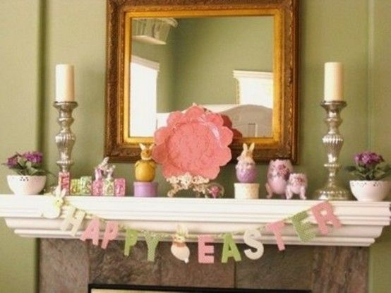 33 best ideas about Easter Fireplace Decor – Easter Mantel Decorations