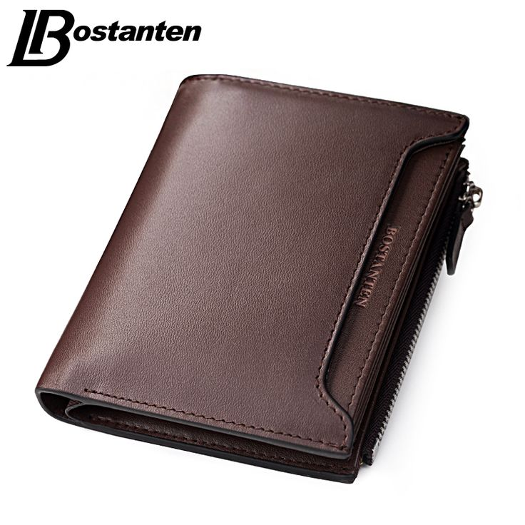 Bostanten 2017 Cheap Designer Men Wallets Coin Zipper Pocket fashion Short Design Men's Wallet Male Real Genuine Leather Wallet