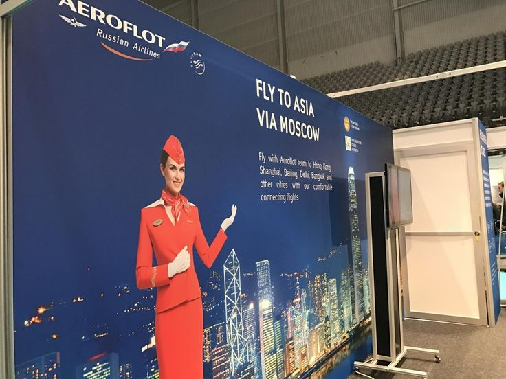 #Aeroflot is a 4 airline which has several departures to Moscow from Oslo. From there great connections to the east if you are headed that way. This airline has had an image revamp in the last few years and they are focusing on their young fleet great service and short routes to the east. #reiselivsmessen2017 #tourism #travel #reise #ferie