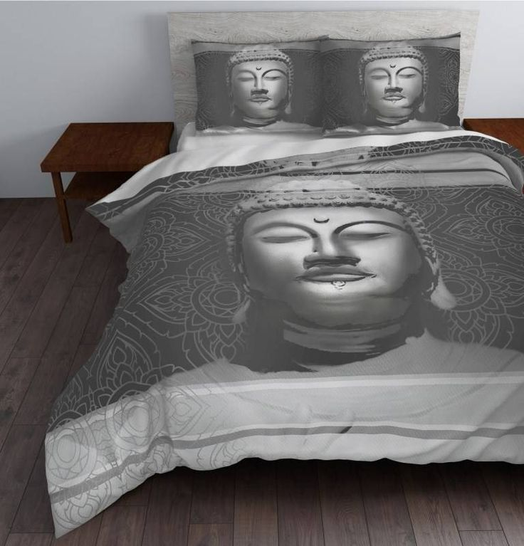 Sleeptime Dekbedovertrek Steel Buddha Grijs