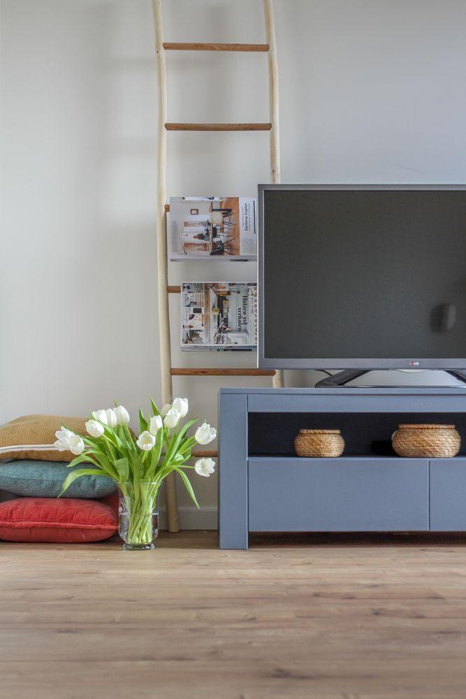 Kleuren In De Woonkamer Blauw Tv Meubel Gekleurde