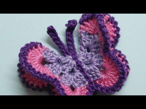 Free Crochet Patterns For Butterflies : Pi? di 25 fantastiche idee su Crochet Butterfly su ...