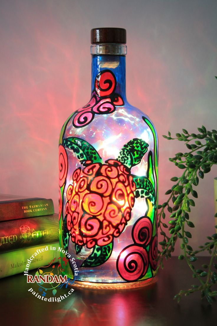 Pin On Hand Painted Accent Lamps Bottle Lights
