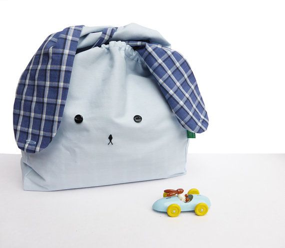 Light blue and navy Japanese style bunny rabbit lunch by MushyP