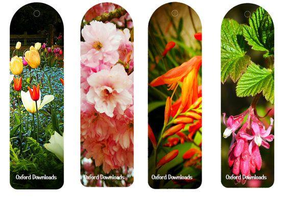 Floral Print Floral Bookmarks Printable by OxfordDownloads on Etsy
