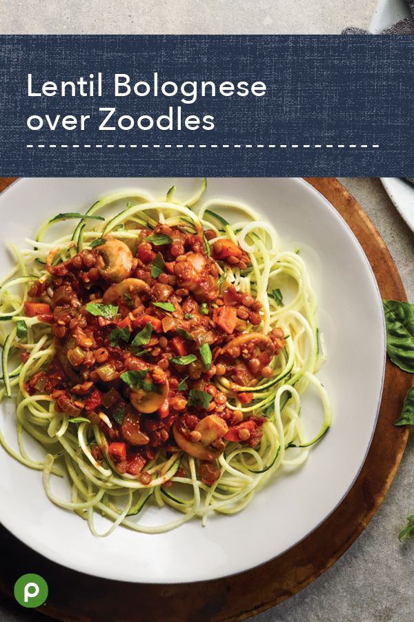 Lentil Bolognese Over Zoodles Recipes Vegetable Recipes Healthy Cooking