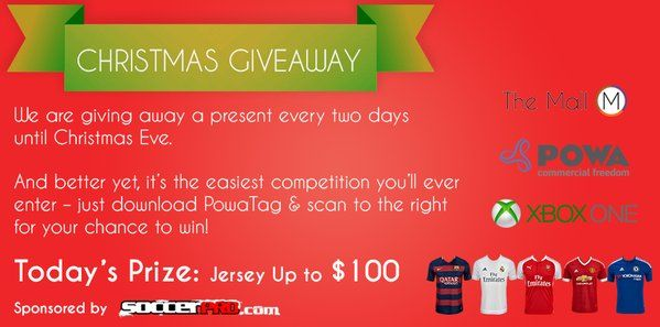 Competition! win your favourite jersey. #Competition #soccer #winner #jersey #prize #Christmas
