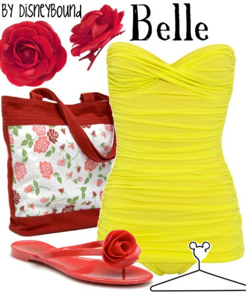 that bathing suit looks super flattering and so cute!: At The Beaches, Disney Outfits, Summer Suits, Cute Swimsuits, Vintage Bath Suits, Belle Disneybound, Disney Inspiration, Disney Bound, The Beast