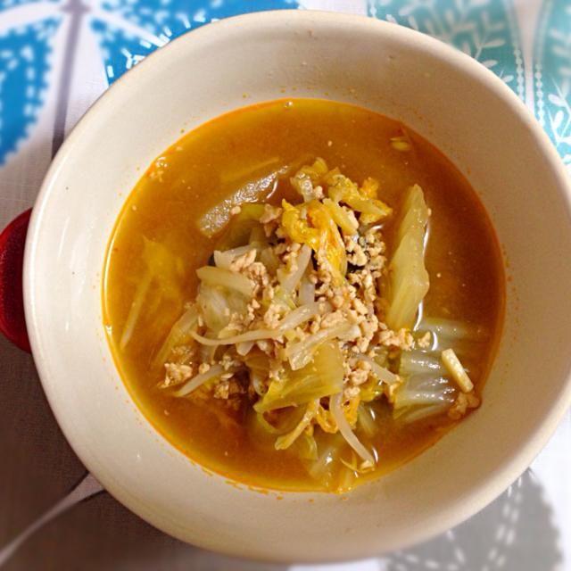 ひき肉でお味噌を作って野菜スープに♪しょうがの味ですごーくあったまるーーーっ(^_^)v - 9件のもぐもぐ - 坦々スープ♪ by ayahoney