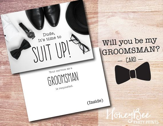 57 best will you be my groomsman images on pinterest groomsman will you be my groomsman card by honeybeepartyprints on etsy junglespirit Image collections