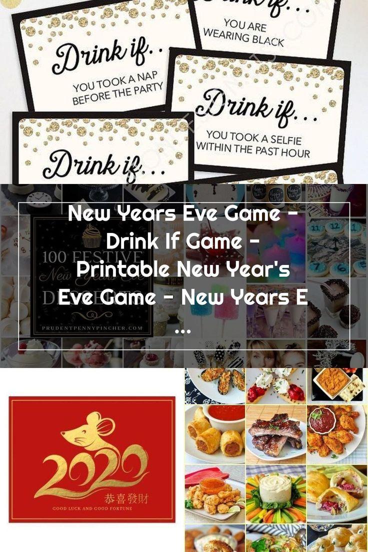 Silvester Party Game Drink Wenn Spiel druckbare Neujahr in