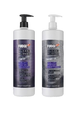 FUDGE CLEAN BLONDE VIOLET TONING SHAMPOO 1000ML and CONDITIONER 1000ML DUO PACK by Fudge -- You can find more details by visiting the image link.