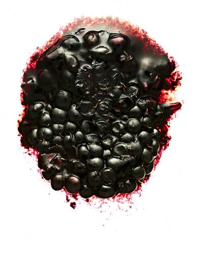 One piece of squeezed mulberry