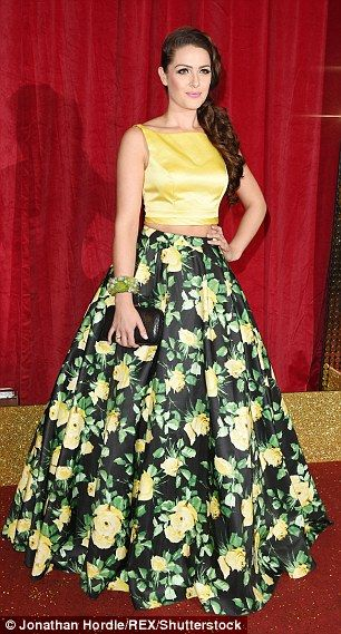 Anna Passey & Isabel Hodgins wear same floral skirt to Soap Awards