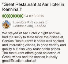 Sen5es Restaurant - Tripadvisor Review