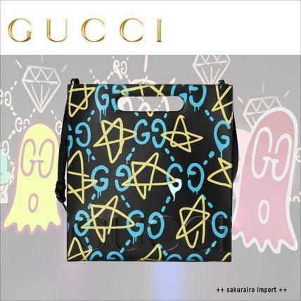 ●GUCCI グッチゴースト GG スター トートバッグ グッチ 2016-2017 ファッション
