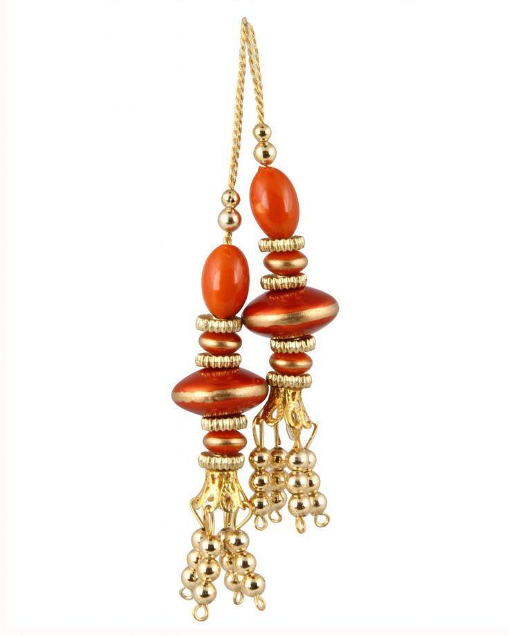 Orange color Tassel for Cholis, Lehangas, Blouses & Suits