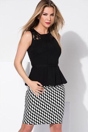 Sateen X Ivana Sert - Siyah Beyaz Etek 484-SATEEN101-2091 %50 indirimle 24,99TL ile Trendyol da