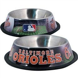 Baltimore Orioles Dog Bowl - Stainless