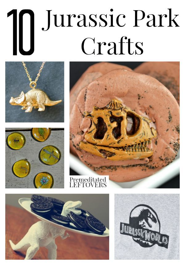 10 Jurassic Park Crafts- These Jurassic Park crafts include something for all ages. Do them with your dino-loving kids at home or at a Jurassic Park party.