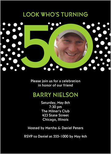 Look Who's 50 Birthday Invitation