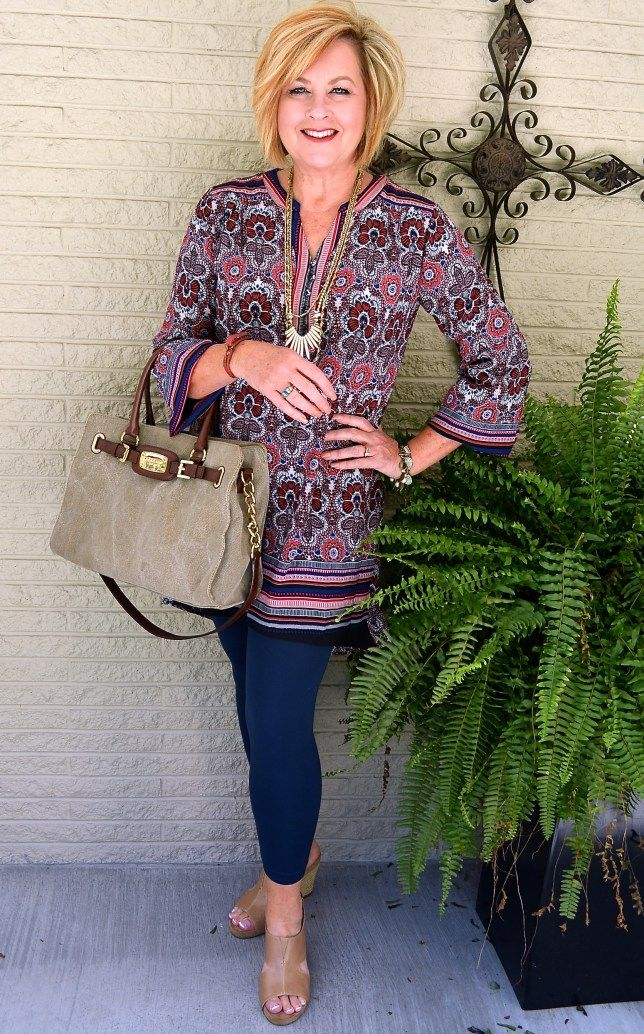 50 IS NOT OLD | LET'S GO FOR A RIDE | Transition Outfit | Summer Shoes | Tunic + Leggings | Fashion over 40 for the everyday woman