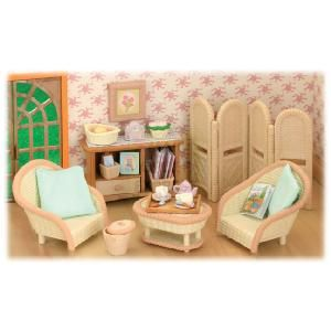 Flair Sylvanian Families Conservatory Living Room Set A Beautiful Furniture Ideal For The Willow Hall