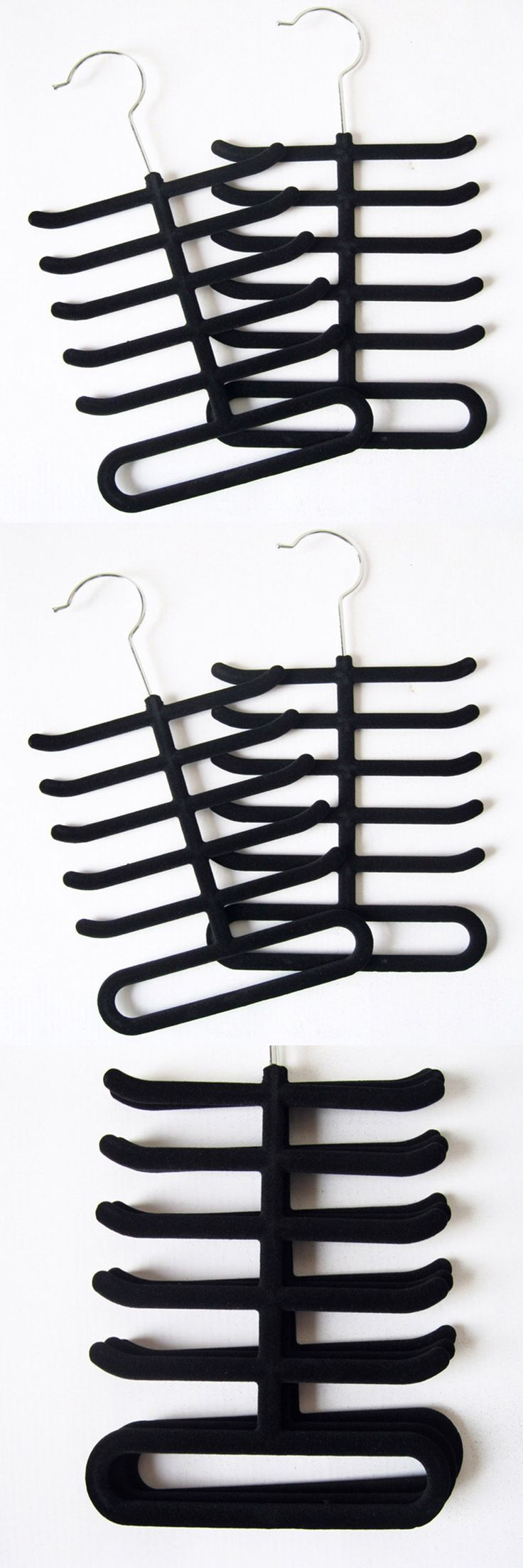 Brand New Nonslip Neck tie Belts Tie Hanger Velvet Fishbone Hangers Tie Hanger Rack Shawl Scarf Closet Holder Organizer