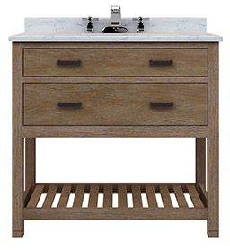 "Astoria 36"" Vanity 1 Drawer/Open Shelf - RTA Cabinet Store"
