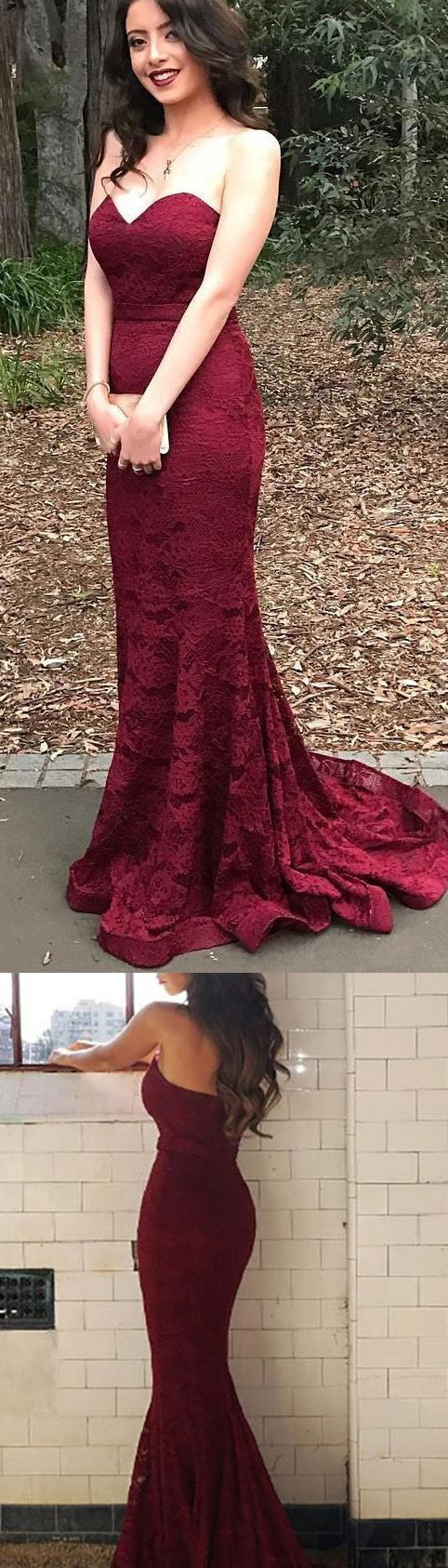 Bridesmaid Dresses Online, Lace Bridesmaid Dresses Short, Cheap Bridesmaid Dresses, Online Bridesmaid Dresses, Bridesmaid Dresses Cheap, Lace Bridesmaid Dresses, Cheap Dresses Online, Burgundy Bridesmaid Dresses, Short Bridesmaid Dresses, Mermaid/Trumpet Evening Dresses, Short Burgundy Evening Dresses With Lace Sweep Train Sweetheart Sale Online