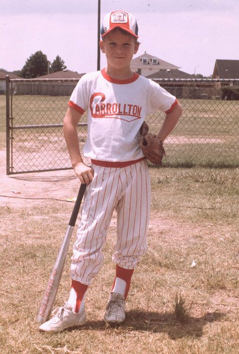 Peyton Manning in Little League:     http://sportsillustrated.cnn.com/multimedia/photo_gallery/1207/pro-athletes-in-little-league/content.2.html#