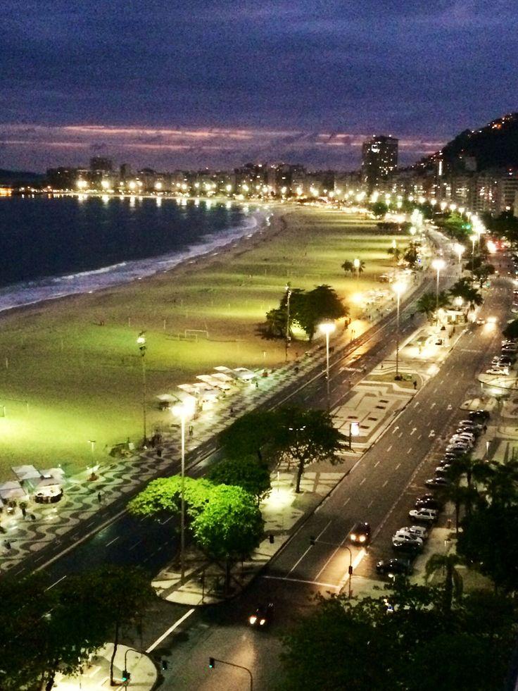 Copacobana Beach by Night, Rio de Janeiro