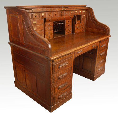 54 Best Desks Images On Pinterest Rolltop Desk Antique