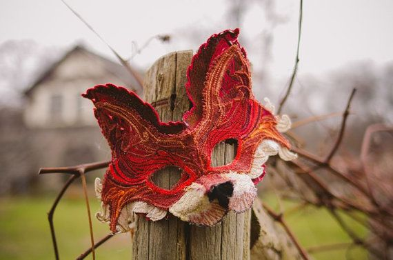 LACE FOX MASK by TheseWoods on Etsy, currently obsessed with foxes.
