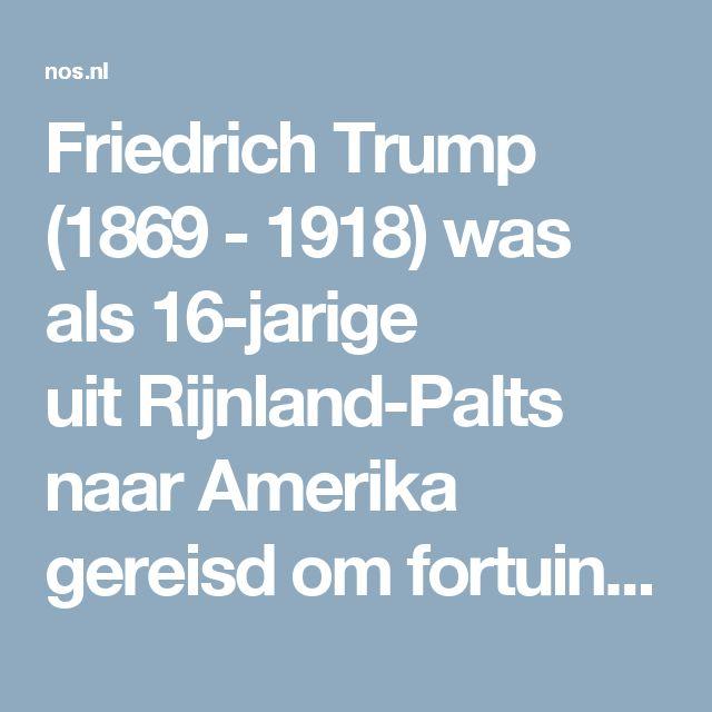 Friedrich Trump (1869 - 1918) was als 16-jarige uitRijnland-Palts naar Amerika gereisd om fortuin te maken. Daarin slaagde hij door de Goudkoorts van Klondike; niet door zelf te mijnen, maar door een restaurant-bordeel uit te baten.  In 1905 keerde hij als rijk man terug naarzijn geboorteland, maar de autoriteiten waren daar niet van gediend. Omdat hij zijn dienstplicht niet had vervuld, wilde men hem niet terughebben.