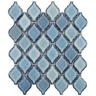 SomerTile 11 х 9,75-дюймовый Касабланке Orion Фарфоровая плитка мозаики (Pack из 10):