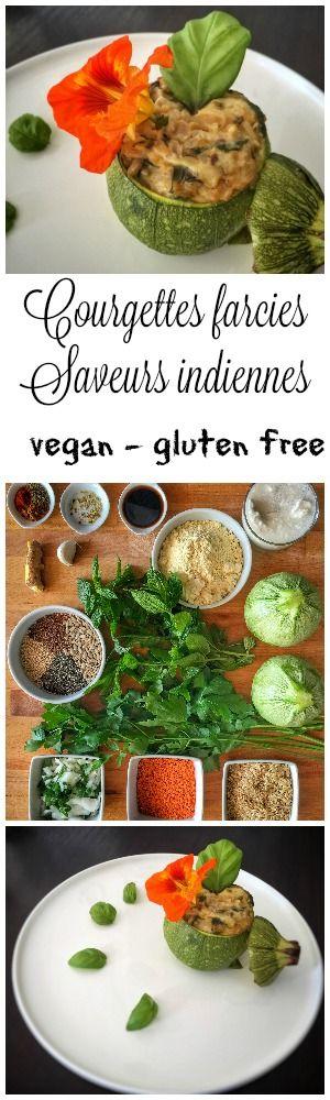 Courgettes farcies revisitées en mode #vegan et #indien #glutenfree